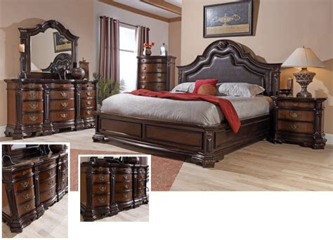 lifestyle furniture bedroom sets dark cherry storage king bedroom set by lifestyle
