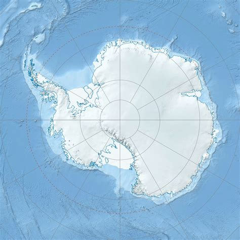 map of antarctica file antarctica relief location map jpg