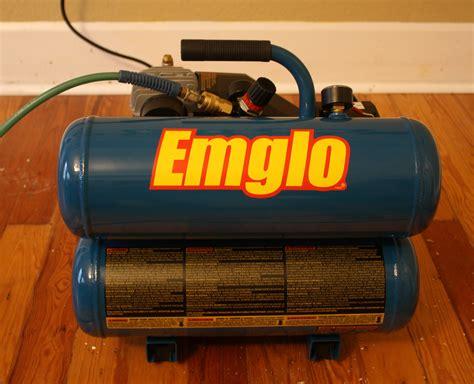 emglo em  compact  gallon oiled air compressor review