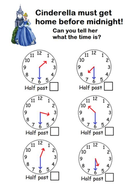 worksheet clock half past telling the time to o clock half past by sophiemhorton