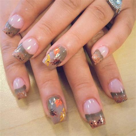 Leaf Pattern Nails   20 autumn nail art designs ideas design trends