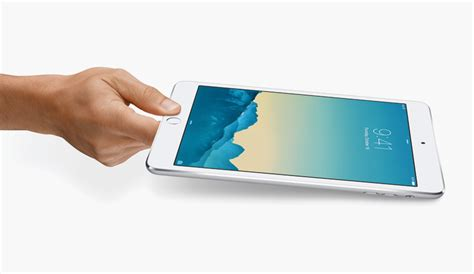 Mini 3 Tablet Apple Berfitur Fingerprint Sensor thinner apple air 2 and mini 3 features touch id