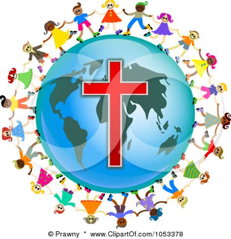 Superior Church Hospitality Mission Statement #8: Christian-clipart-free-Free-Clip-Art-Illustration-Of-A-Christian-Kids-Holding-Hands-Around-A-Globe-With-A-Cross.jpg