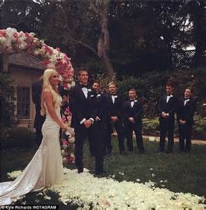 kim richards high at daughters wedding cursed out groom kyle richards looks stunning in strapless black dress for