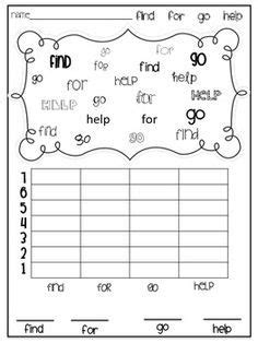 templates for sight words sight word graphing template google search kerryation