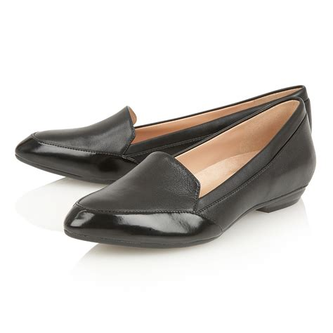 naturalizer peace flat shoes in black lyst
