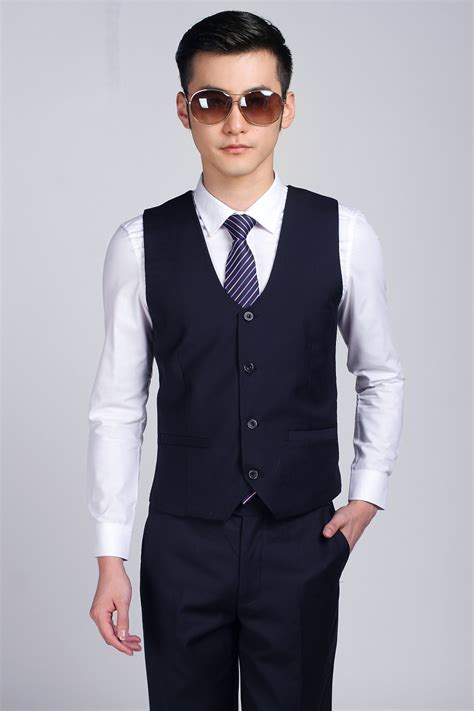 Vest Coat Navy G Limited by New Arrivals Business Formal Navy Blue Waistcoat For