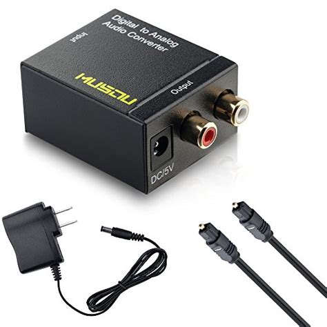 Special Stereo Converter best musou digital optical coax to analog rca audio converter adapter with fiber cable reviews