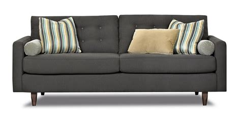 tall loveseat klaussner craven contemporary button tufted sofa with tall