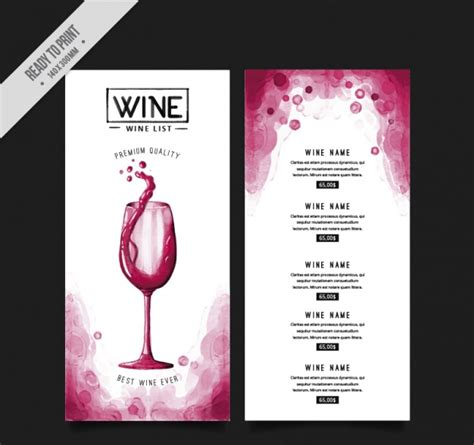 free wine list template 50 free restaurant menu templates food flyers covers