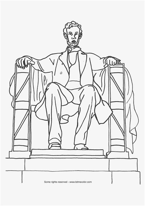 Coloring Page Of Monument Abraham Lincoln Dc Prep I Want To Go To There Pinterest Abraham Lincoln Coloring Pages