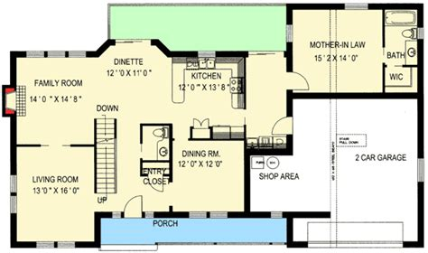 Mother In Law Suite Floor Plans by Traditional Home With Mother In Law Suite 35428gh 2nd