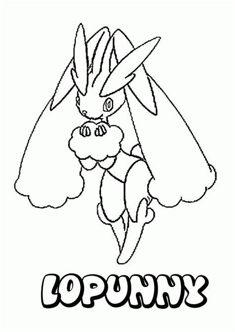 Normal Pokemon Coloring Pages | normal pokemon coloring pages lopunny coloring home