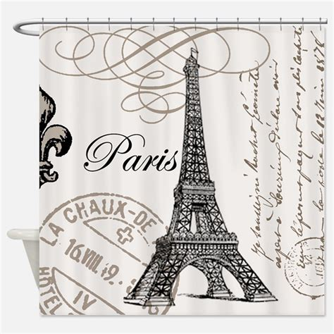 Paris Shower Curtains Paris Fabric Shower Curtain Liner