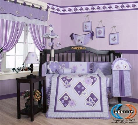 purple baby bedding