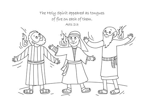 Holy Spirit Coloring Pages For Children by Free Bible Coloring Page Holy Spirit Comes