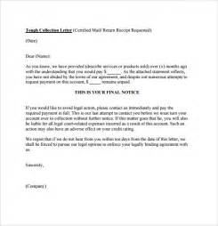 Letter Collection Collection Letter Template 7 Documents For Pdf