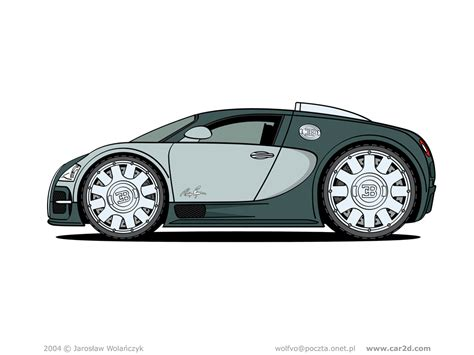 cartoon bugatti car illustrations