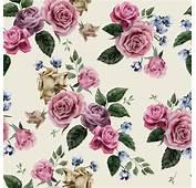 Retro Beautiful Roses Vector Seamless Pattern Free