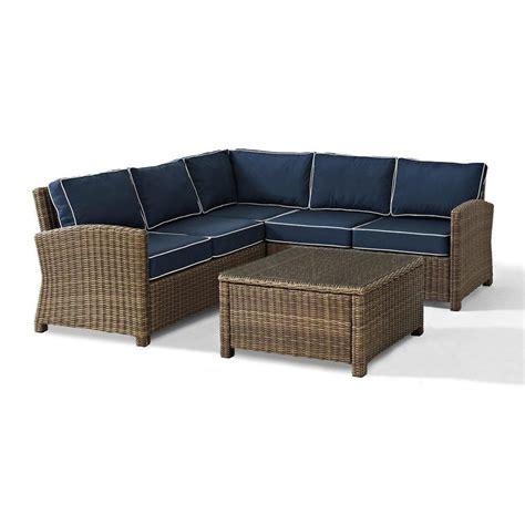 crosley furniture bradenton  piece outdoor wicker seating set  lowescom