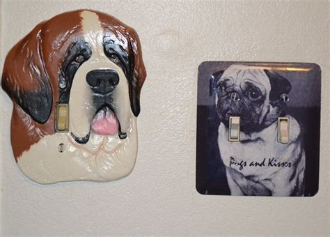 st bernard and pug pug and st bernard light switch plates my pug collection pug c