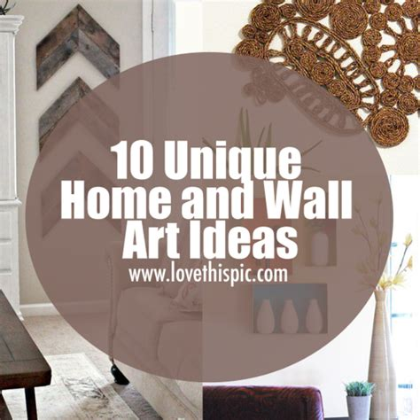 unusual wall art 10 unique home and wall art ideas