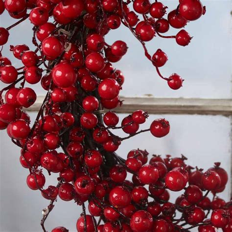 red artificial berry and twig wreath wreaths floral