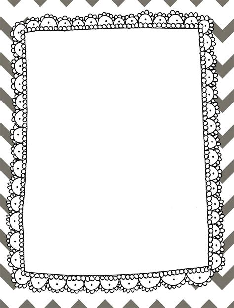 free chevron border template for word chevron borders clipart free large images