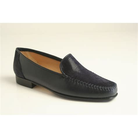 high heeled moccasins hb h b italian moccasin in high grade navy leather with a