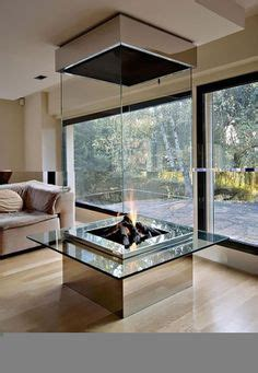 glass enclosed fireplace amazing fireplaces on pinterest whistler river rock