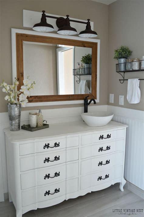 Farm Style Bathroom Vanities by 25 Best Dresser Vanity Ideas On Dresser Sink