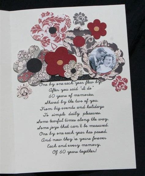 Wedding Anniversary Card Nan And Grandad by Free 60th Wedding Anniversary Poems 60th Anniversary