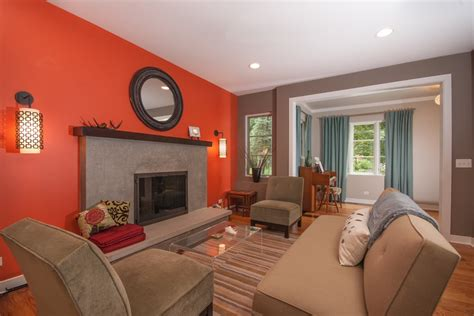 Should I Paint My Bedroom Green burnt orange wall paint living room contemporary with
