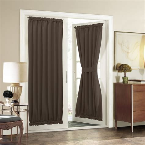 privacy curtains for french doors thermal insulated french door curtain aquazolax blackout