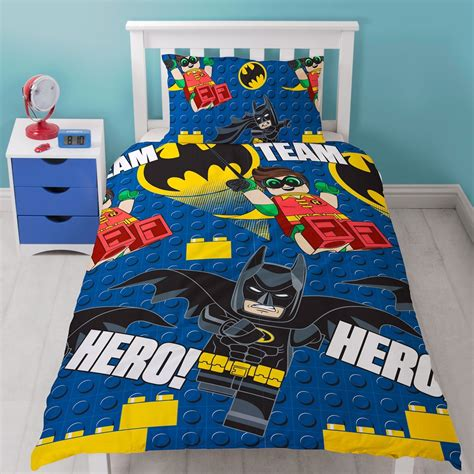 lego superhero bedroom new lego batman hero single duvet quilt cover set boys