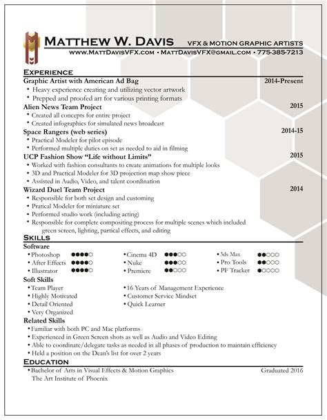 Vfx Jobs Resume by Resume Cover Letter Examples For Students Resume Cover