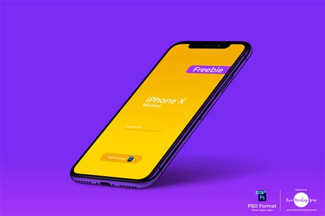 Iphone X Perspective Mockup Psd Template Age Themes Iphone X Mockup Template