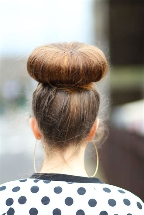 pictures of hair styles that make a big nose look smaller now that s a big bun hair pinterest buns
