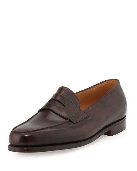lobb loafers lobb loafer in brown for lyst