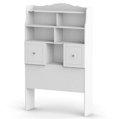 twin tall bookcase headboard in white 315803