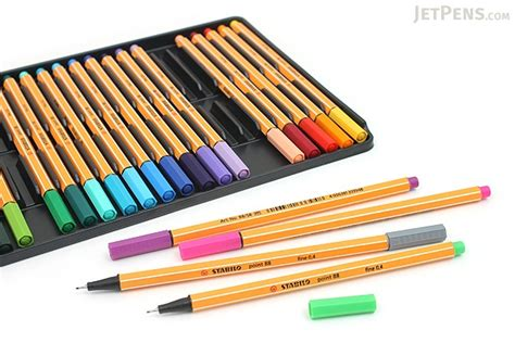 Stabilo Set 9 Warna stabilo point 88 fineliner marker pen 0 4 mm 25 color set wallet jetpens