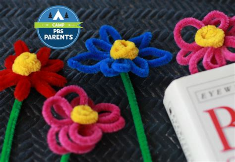 pipe cleaner crafts for pipe cleaner flower bookmarks crafts for