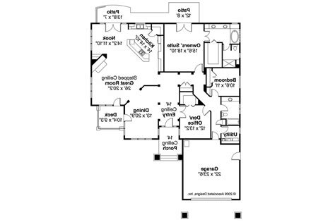 Prairie Style Floor Plans by Prairie Style House Plans Meadowbrook 30 659