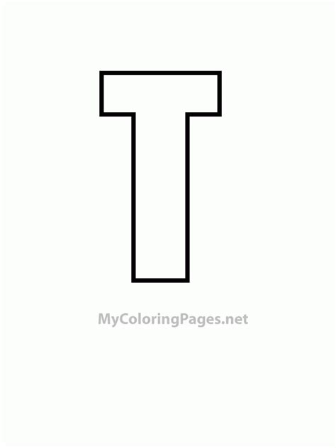 T Coloring Pages by T Coloring Pages Coloring Home