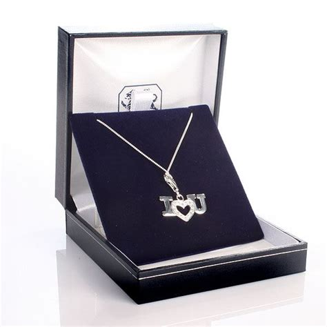 Gift Box Necklace i you necklace with personalised gift box the gift experience