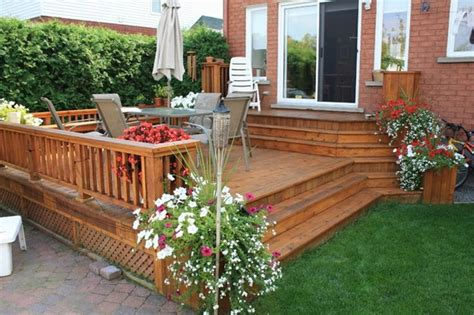 backyard decks for small yards deck and patio ideas for small backyards landscaping