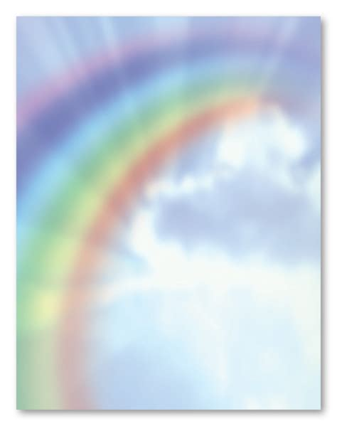 printable rainbow stationery 8 best images of printable rainbow stationery paper free