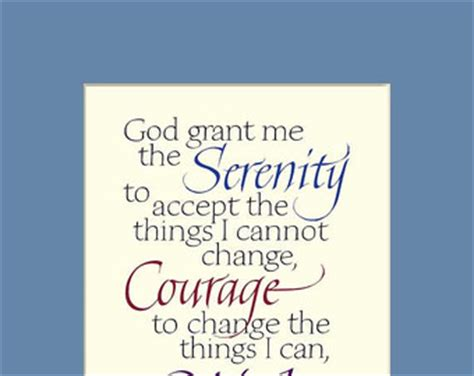 Serenity Prayer print in beautiful calligraphy 11x14 inches