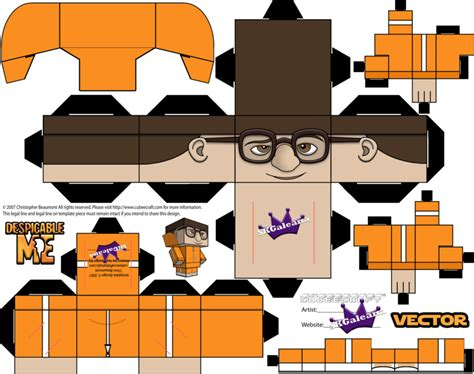 Despicable Me Papercraft - despicable me vector cubeecraft template by skgaleana on