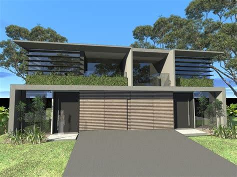 dual occupancy development concrete timber and glass